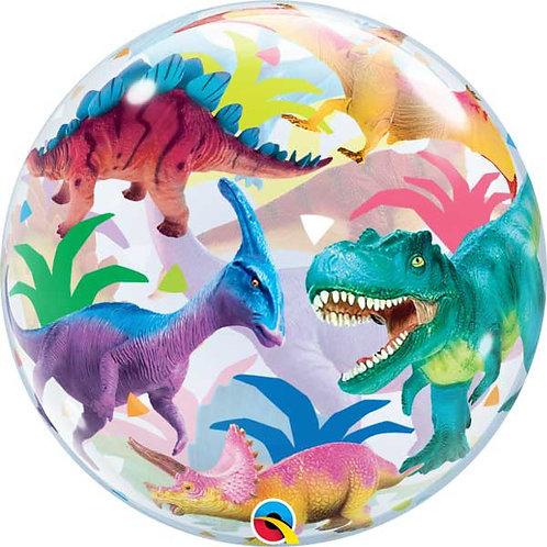Dinosaur Bubble Balloon Semi-Clear, Helium filled T-rex, stegosaurus & more