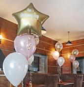 Christening balloons personalised chrome
