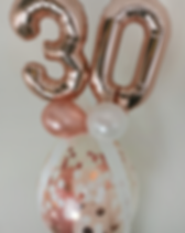 pop balloon 30th rose gold confetti pers