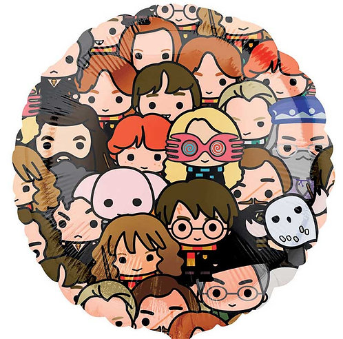 """Harry Potter & other wizarding world cartoon characters 18"""" Foil Helium Balloon"""