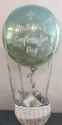 confirmation balloons personalised hot a