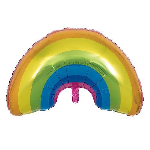 Rainbow Balloon Supershape Helium Foil Balloon Multi-Colour