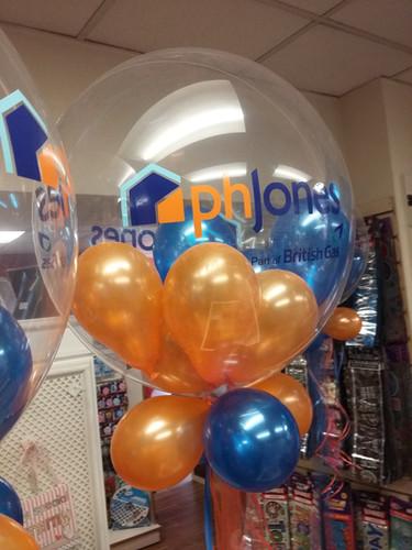 logo balloons bubble balloons British ga