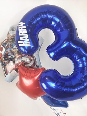 Avengers personalised foil balloons heli
