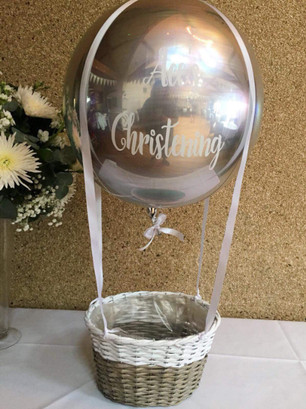 christening hot air balloon personalised