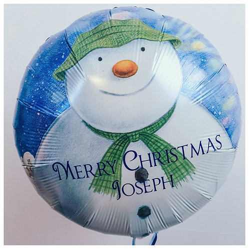 "The Snowman 18"" foil balloon personalised with your Christmas message"