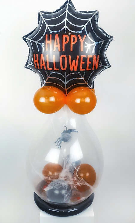 Halloween Spooky Spider Pop Balloon with treats & spider squishy inside