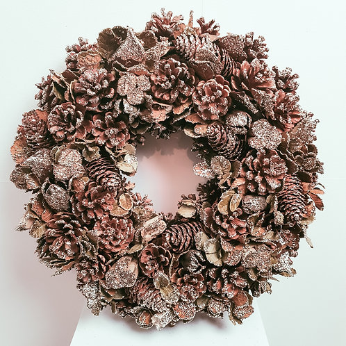 Boxed Wreath - All that glitters is gold 38cm