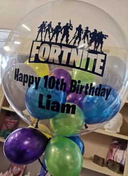 Fortnite themed balloon bublle helium sa