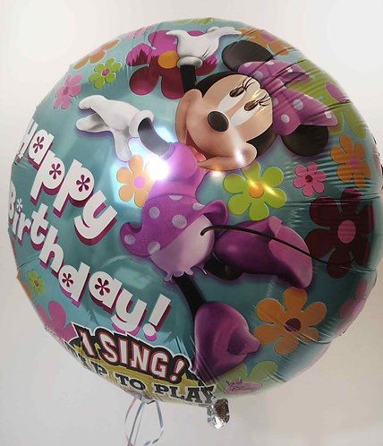 Minnie Mouse Happy Birthday singing balloon - special offer