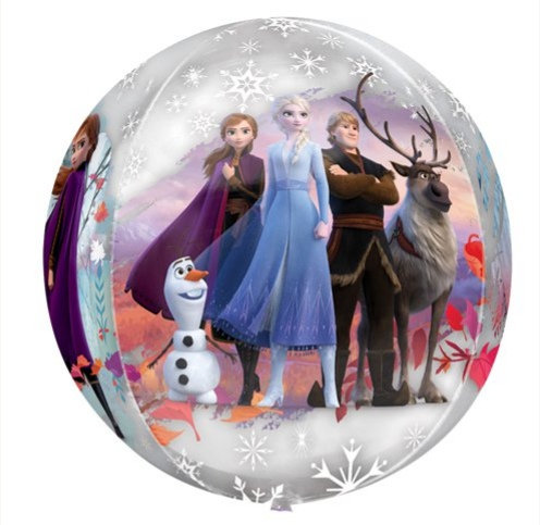 Frozen 2 Balloon Helium Filled Orbz 4 Sided - Anna, Elsa, Olaf, Christoff, Sven