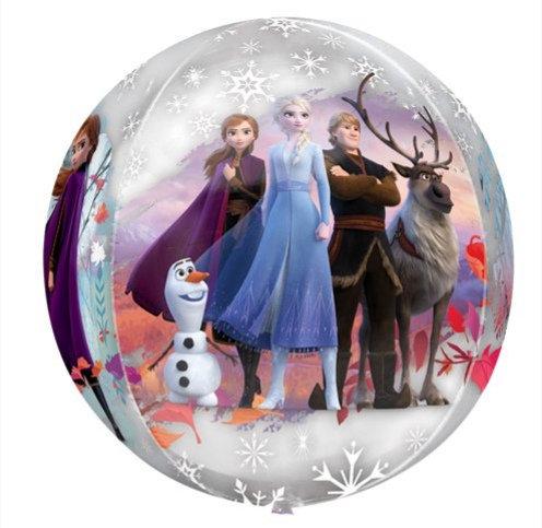 Frozen 2 Balloon Helium Filled Orbz 4 Sided - Anna, Elsa, Olaf, Christoff, Sven