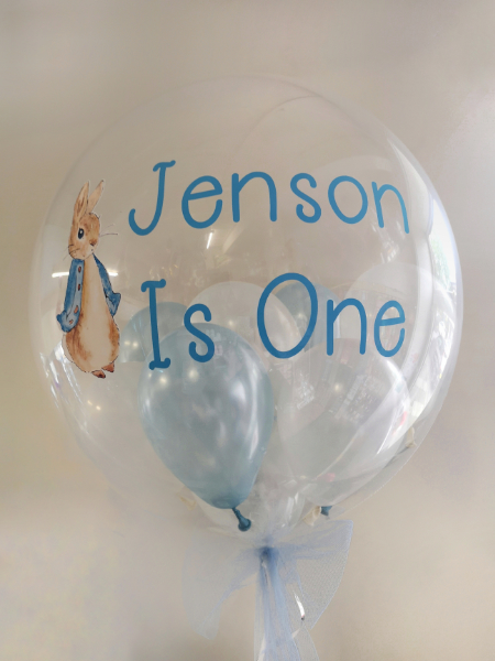 peter rabbit personalised balloon bubble