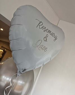 personalised foil heart white silver anniversary
