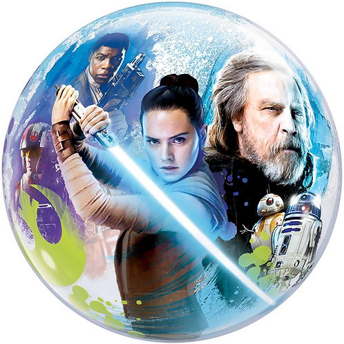 Star Wars: The Last Jedi Bubble Balloon Helium Filled 2 Sided 22""