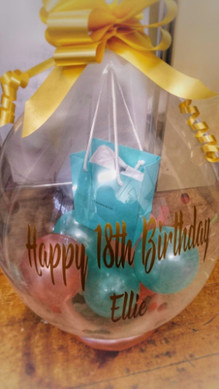 Tiffany gift in balloon surprise pop bal