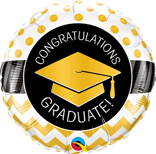 "Graduation foil balloon 'Congratulations Graduate' 18"" Foil Helium Ballo"