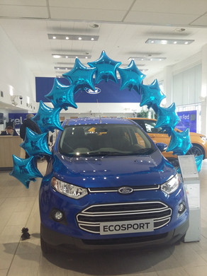 car showroom promotional balloons pearl