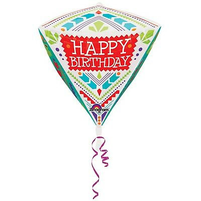 Bright & Colourful Tribal Happy Birthday Diamondz Balloon