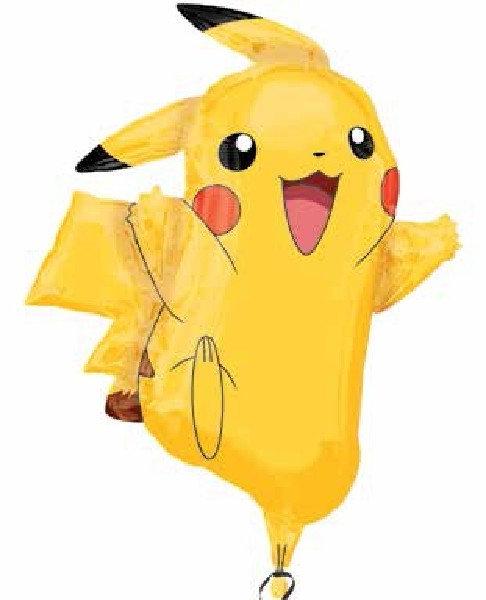 "Pokemon Pikachu Supershape Helium Foil Balloon 31"""