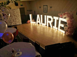 Name light up letters small flower wall