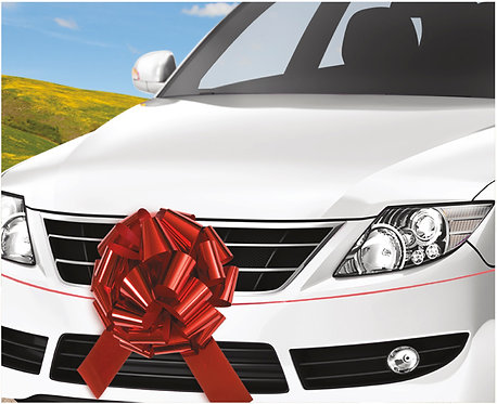 """Giant Red Car Bow - Car Gift Bow 18"""""""