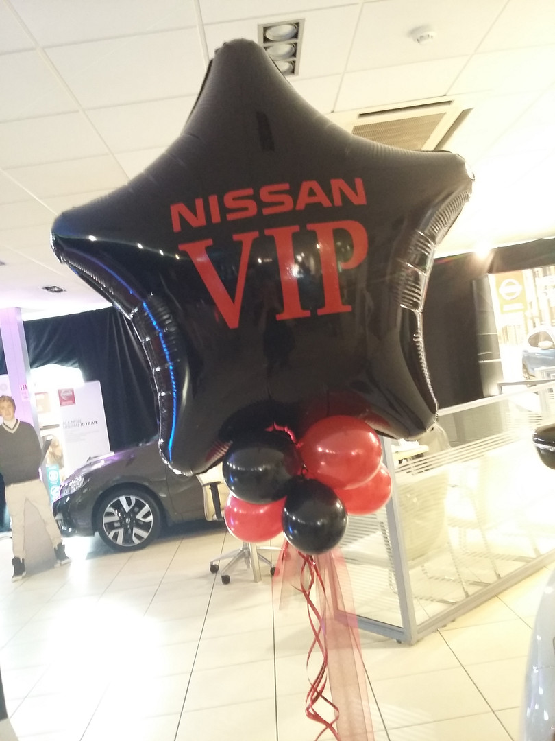 logo promotional balloons nissan stockpo