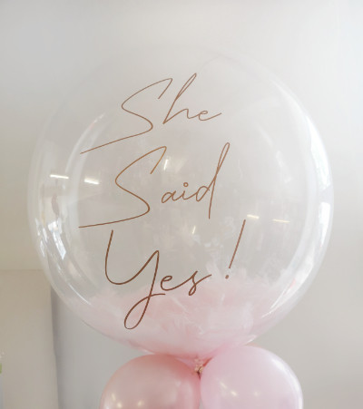 engagement hen party feather bubble ball