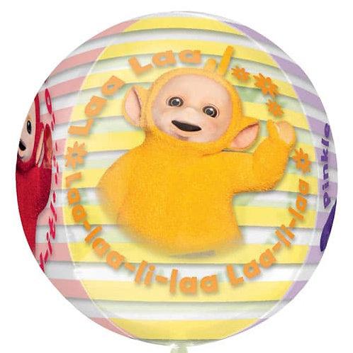 Teletubbies Balloon Helium 4 Sided Orbz -Tinky Winky, Dipsy, La La & Po
