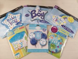 baby boy balloons orbz bubbles supershap