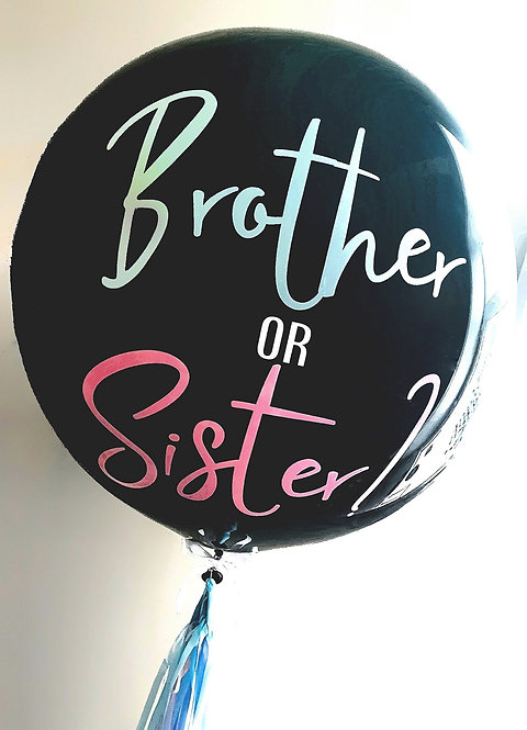 Gender Reveal Balloon Personalised With Any Message. Confetti & Balloons inside