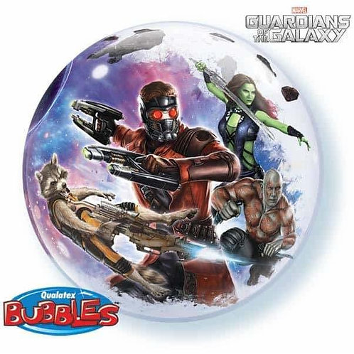 Marvel Guardians of the Galaxy Bubble Helium Balloon - 2 sided semi-clear