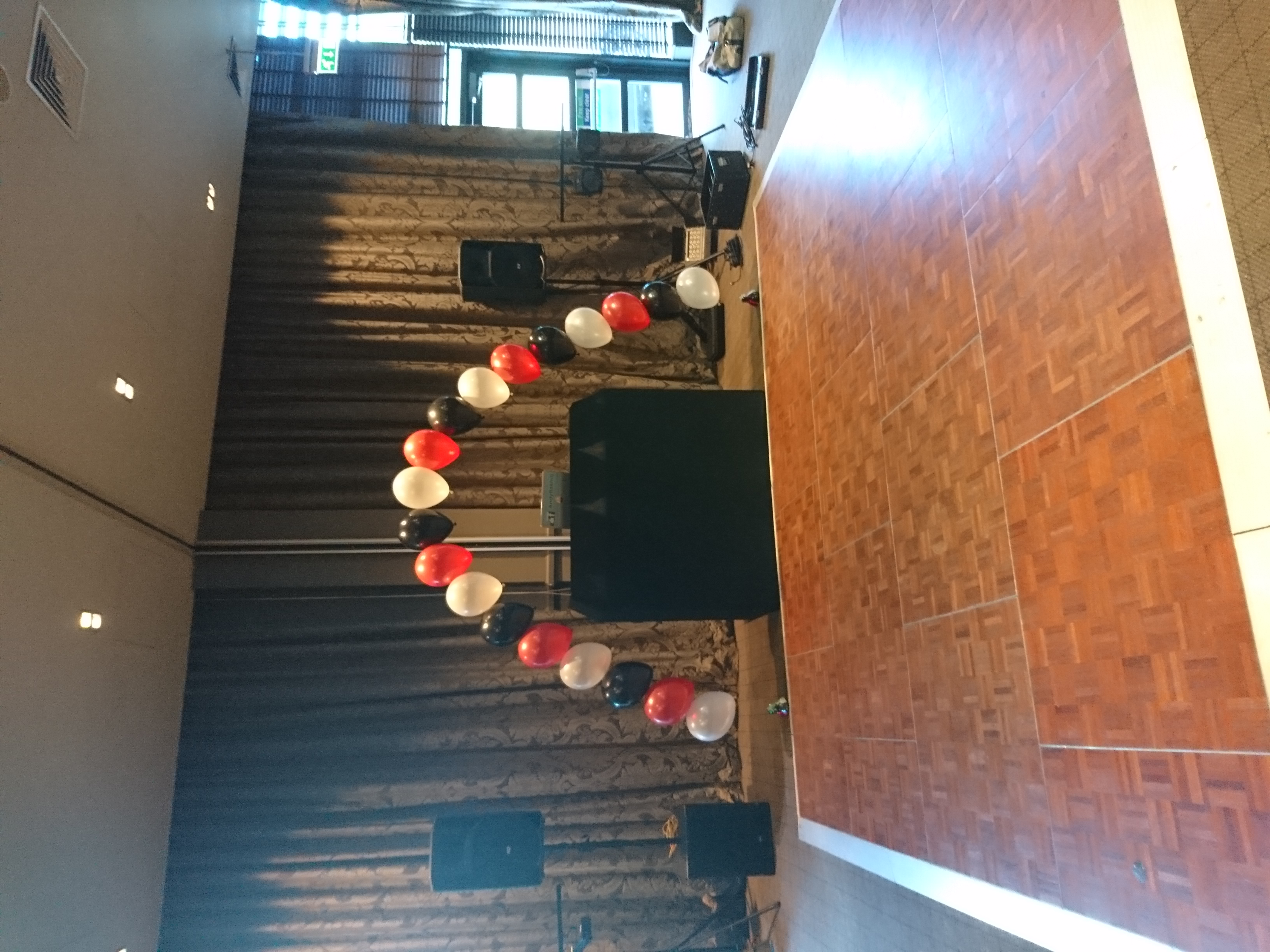 black red and white pearl balloon arch a