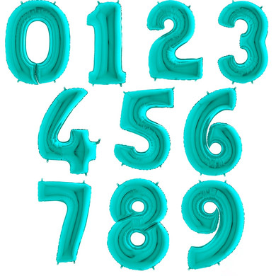 tiffany blue balloon number giant number