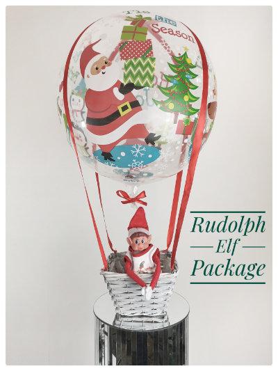 Elf arrival hot air balloon - Rudolph Package