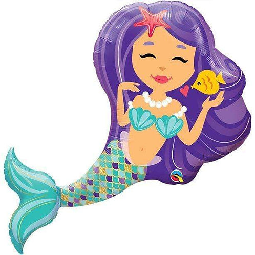 Mermaid Balloon Supershape Helium Foil Balloon Under the sea