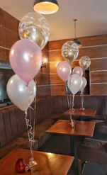 Christening clear pink and chrome double