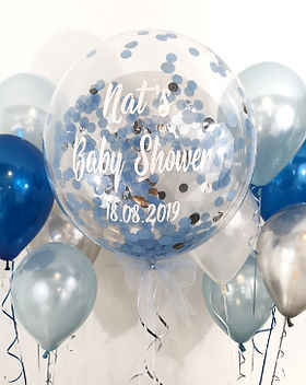 personalised baby boy baby shower confet