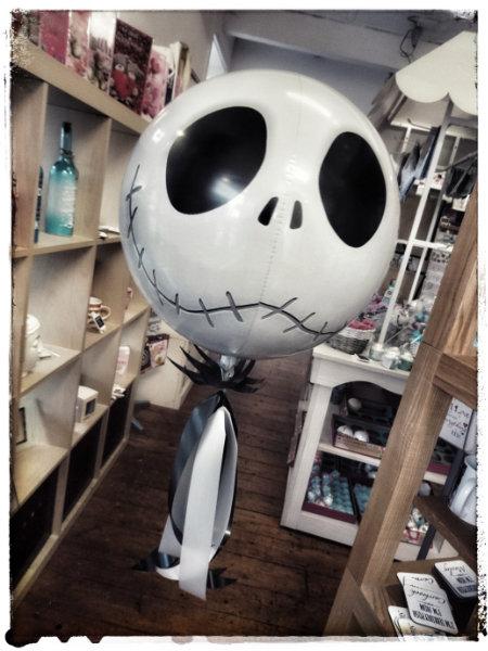 Jack Skellington Orbz Balloon - Nightmare Before Christmas with Collar & Tassels