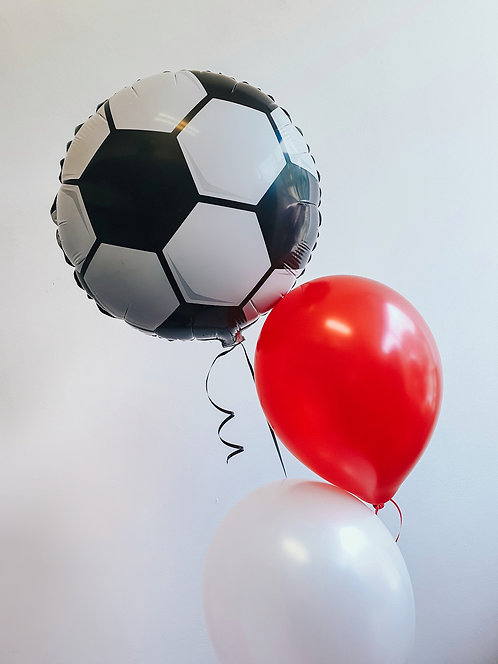 """It's Coming Home balloon bunch - football 18"""" foil, 1 red & 1 white 11"""" latex"""