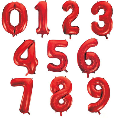 red balloon number giant numbers 34 inch