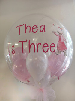 lily bobtail personalised helium ballloo