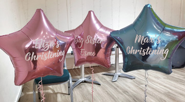 personalised christening star balloons f