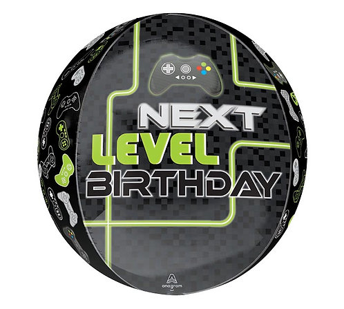 Next Level Birthday Gaming Orbz Balloon Round Controller Computer Game Themed
