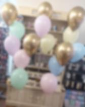 Matte pastel and chrome gold balloon bun