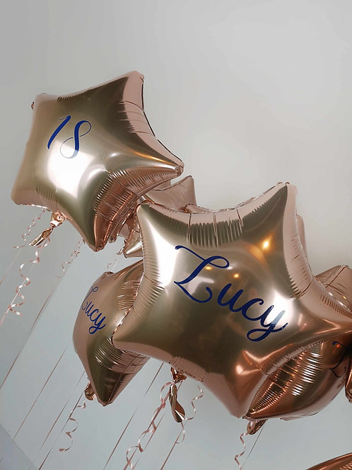 "Personalised 18-20"" Star Foil Balloon - add your own message"