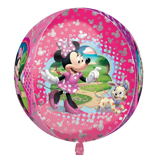 Minnie Mouse round Balloon Orbz 4 Sided Helium filled