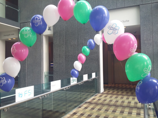 pearl arch balloons corporate event ball