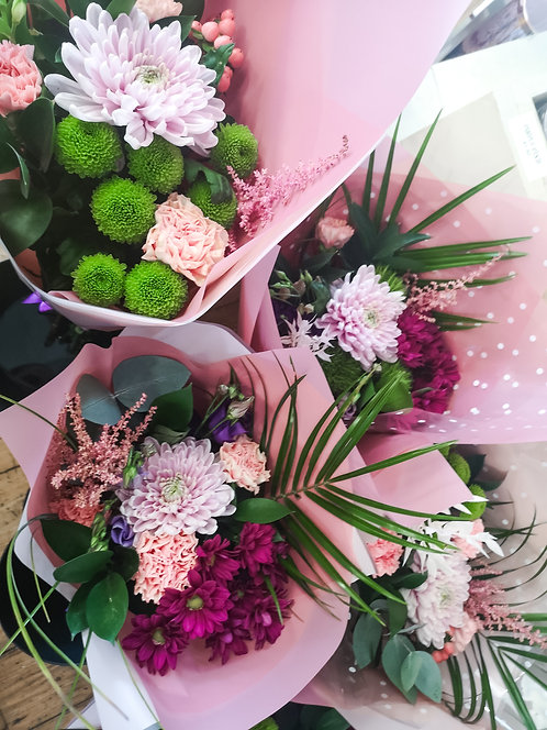 Weekly Special Florists Choice Wrapped Bunch of Flowers