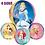 Thumbnail: Disney Princess Balloon Orbz 4 Sided Helium - Aurora, Cinderella, Belle, Ariel